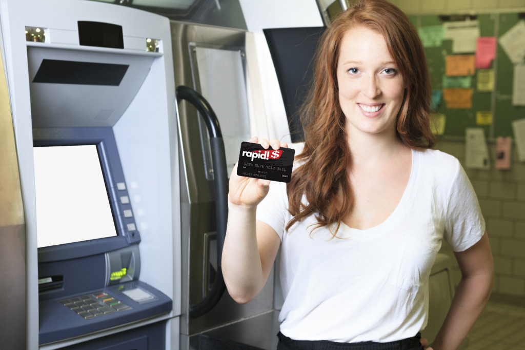 College Student with rapid Card